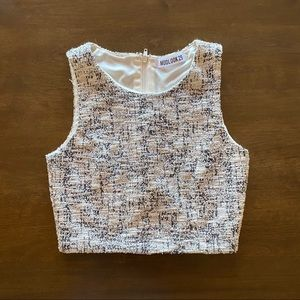 Tweed Crop Top